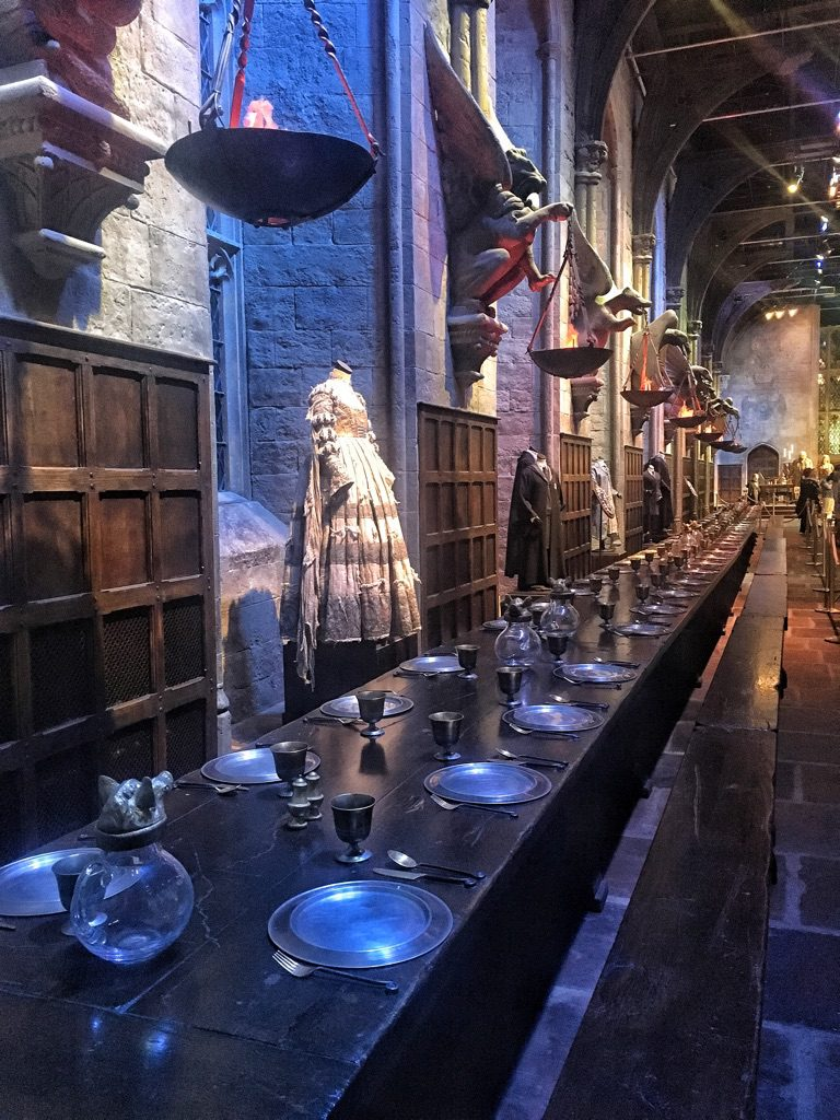 la Great Hall è presente in tutti i film di Harry Potter