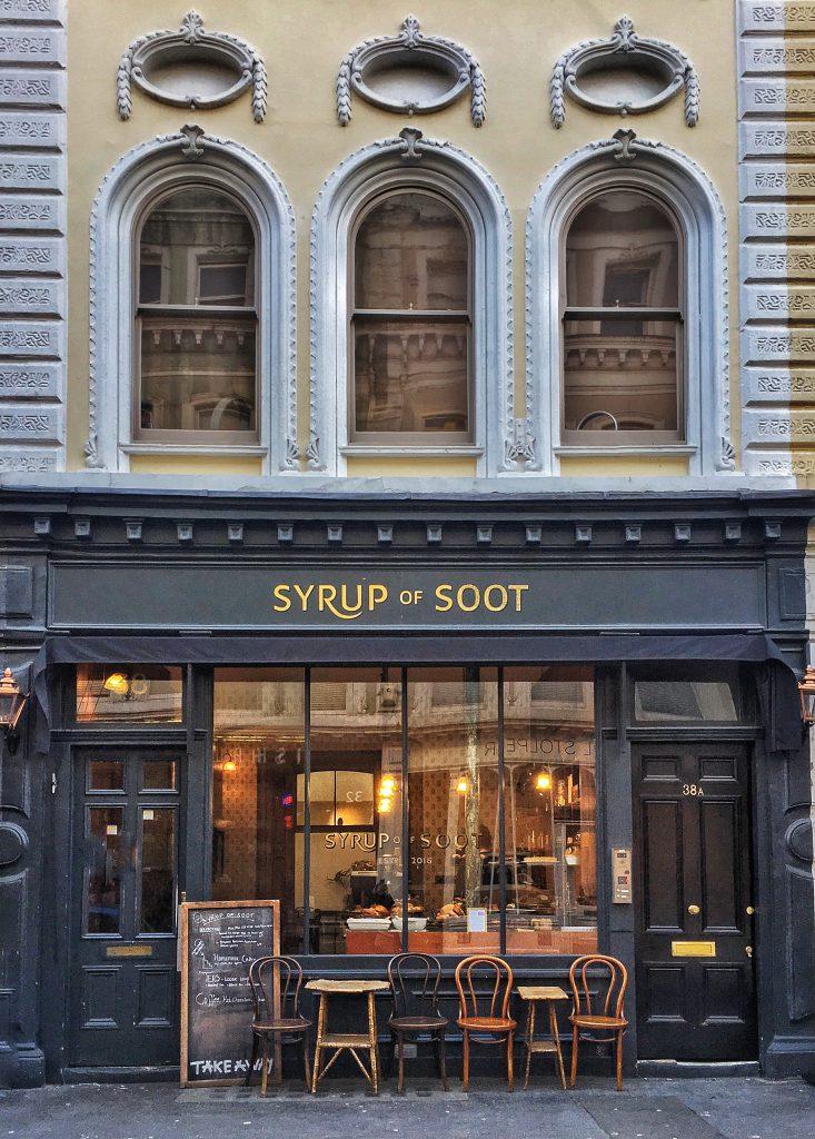 Syrup of Soot per un caffè vicino al British Museum