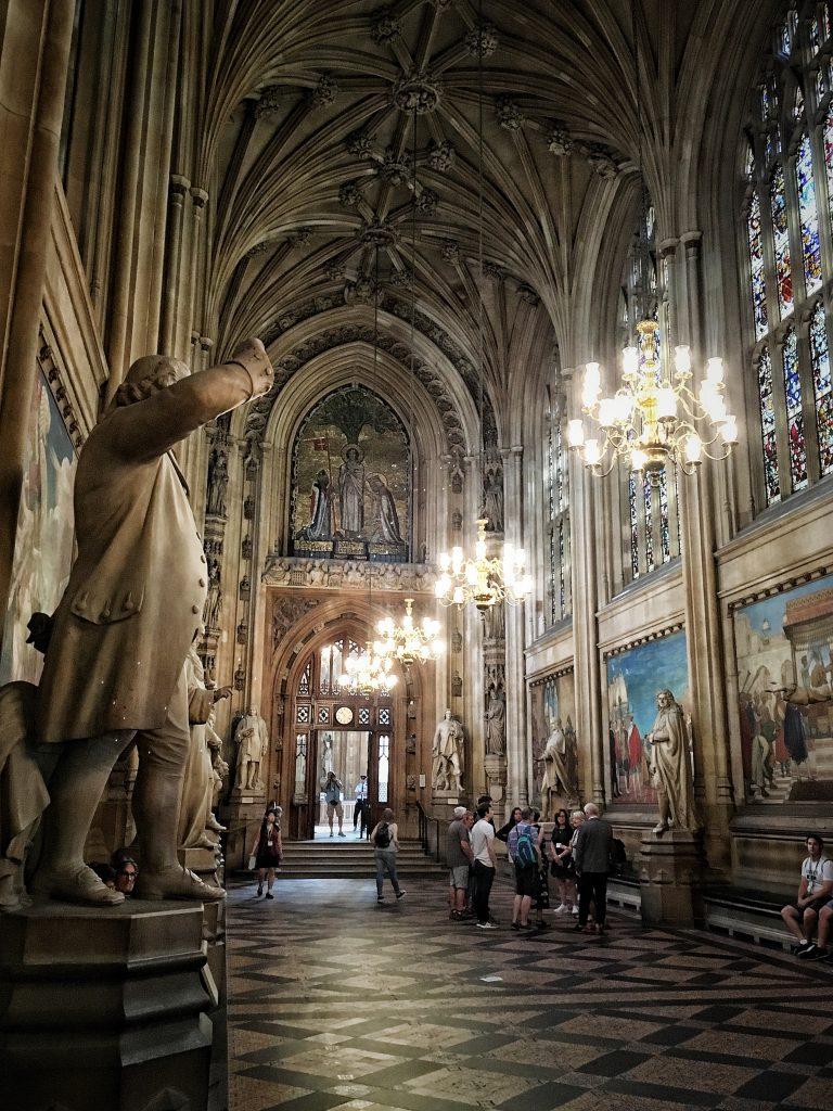 interni del palazzo di Westminster