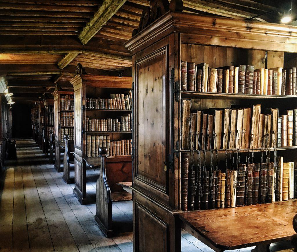 l'antica biblioteca della cattedrale di wells