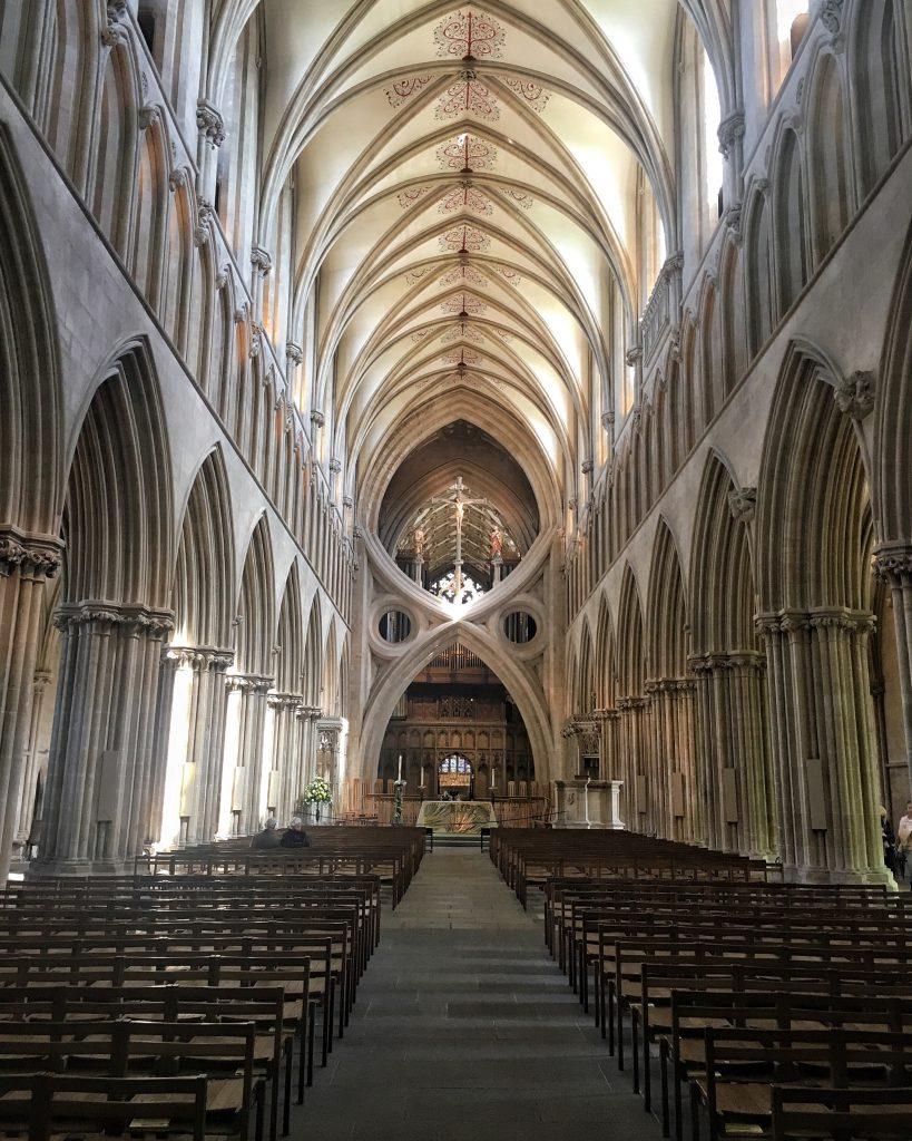 L'arco a forbice della Cattedrale di Wells