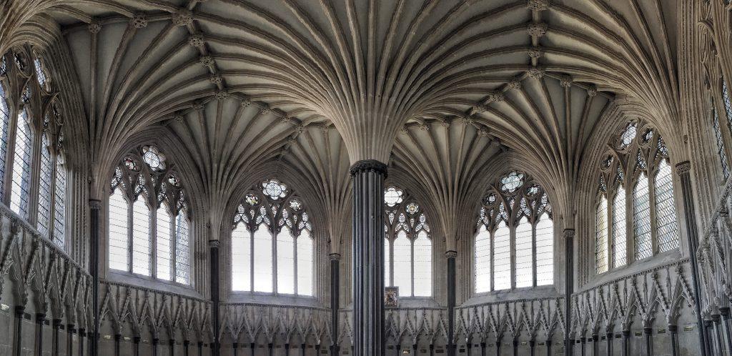 la sala capitolare della Cattedrale di Wells