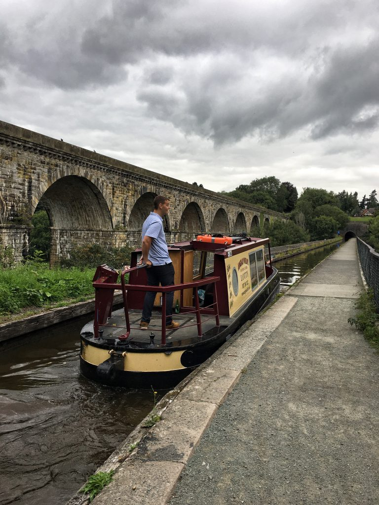 Chirk canal nel Nord del Galles
