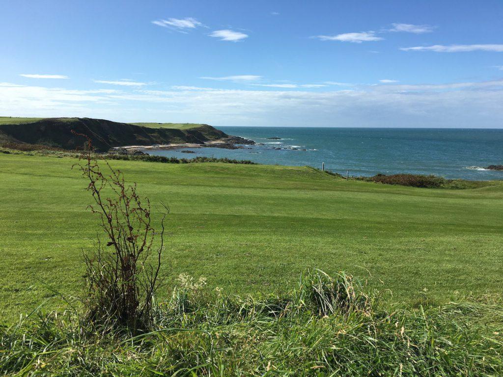 panorama costiero del Galles