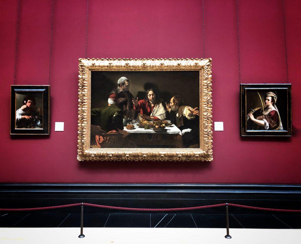 la cena di Emmaus alla National Gallery di Londra